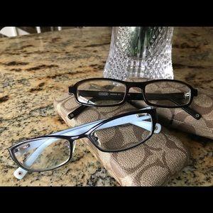 2 pairs of authentic COACH eyeglasses